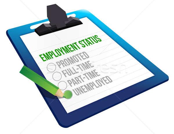 Foglalkoztatás állapot vágólap üzlet öltöny tábla Stock fotó © alexmillos