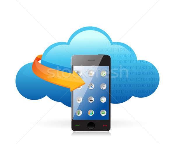 Cloud computing concept smartphone  Stock photo © alexmillos