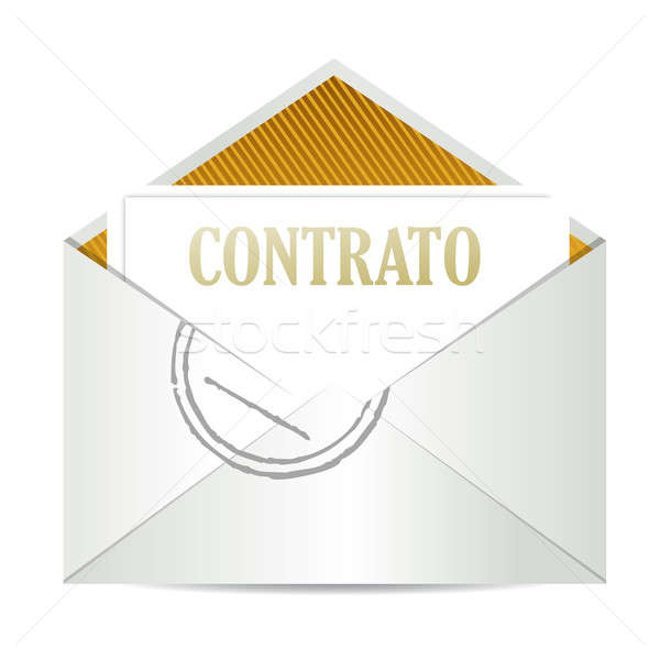 Spanish contract inside mailing envelope Stock photo © alexmillos