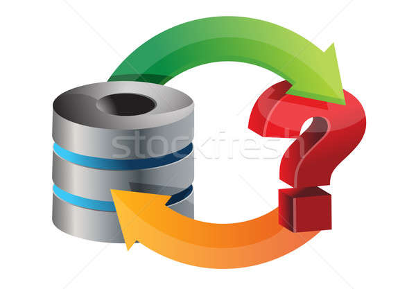 server issues Circle diagram illustration design over a white ba Stock photo © alexmillos