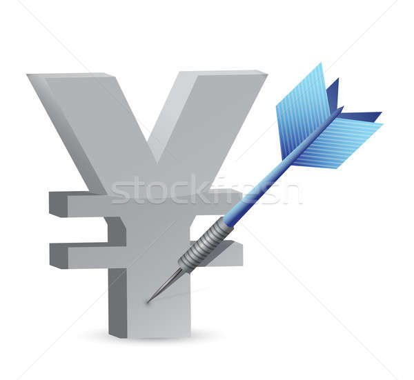 Target yen currency illustration design Stock photo © alexmillos