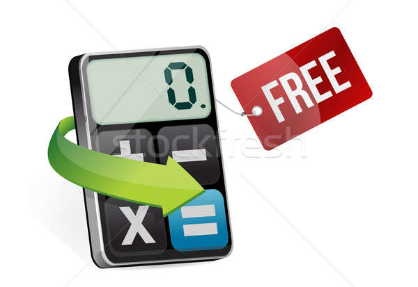 Free tag and modern calculator  Stock photo © alexmillos