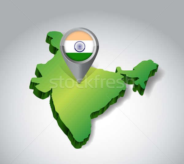 Locating India concept illustration design  Stock photo © alexmillos