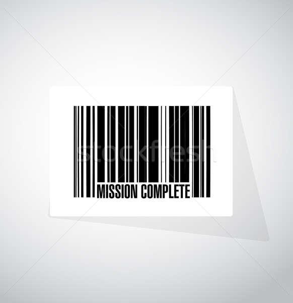 миссия полный штрих знак иллюстрация дизайна Сток-фото © alexmillos