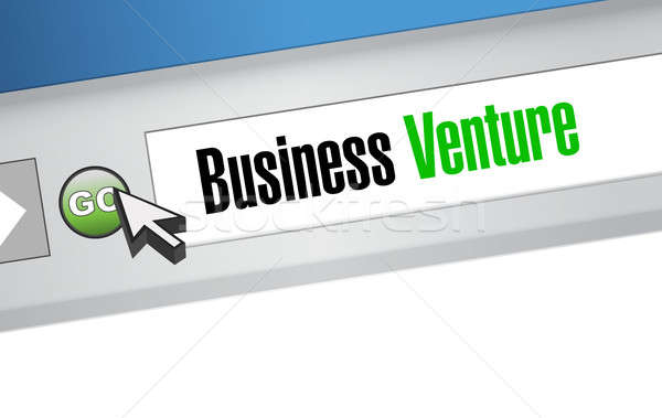 business venture browser sign concept Stock photo © alexmillos