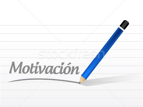 Motivación mensaje signo espanol ilustración diseno Foto stock © alexmillos