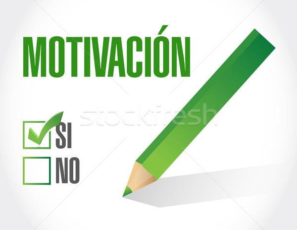 Motivación signo espanol ilustración diseno gráfico Foto stock © alexmillos