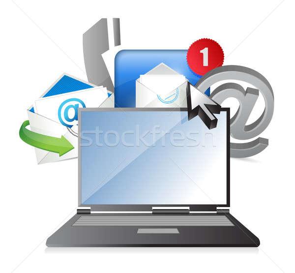 laptop Contact us concept Stock photo © alexmillos