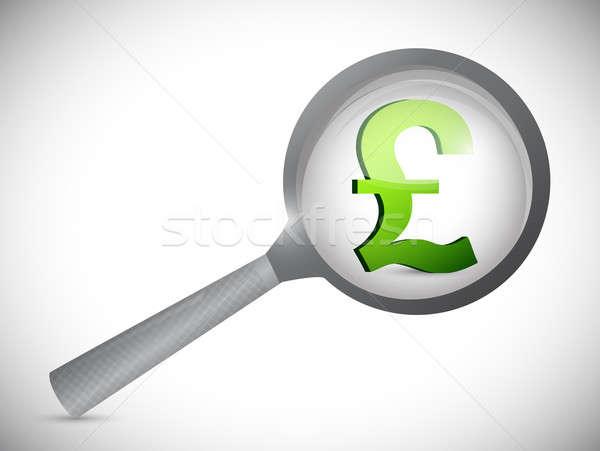 Britânico libra moeda símbolo ilustração projeto Foto stock © alexmillos