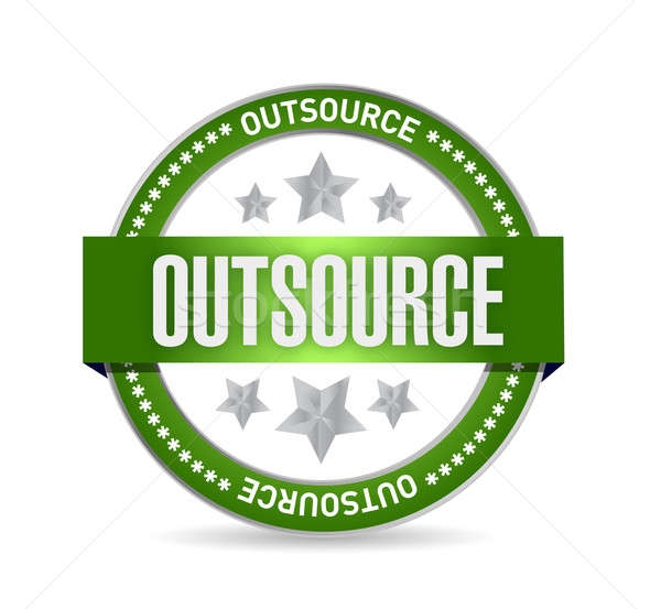 outsource seal stamp illustration design Stock photo © alexmillos