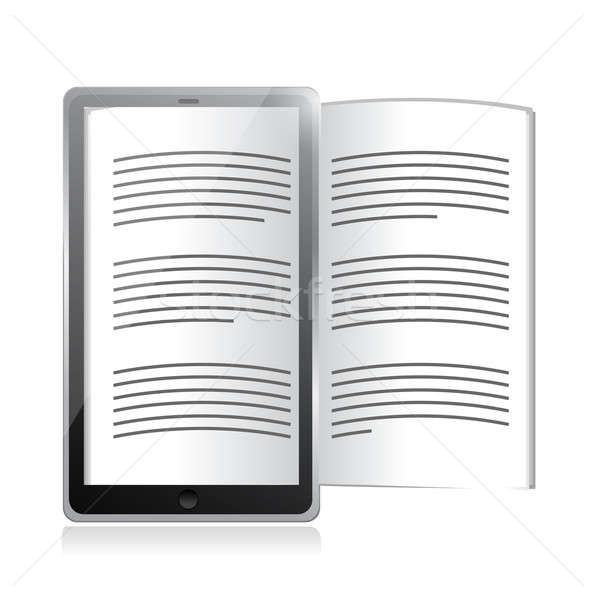 ebook reader. tablet illustration design Stock photo © alexmillos