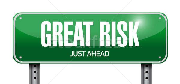 great risk road sign illustration design Stock photo © alexmillos
