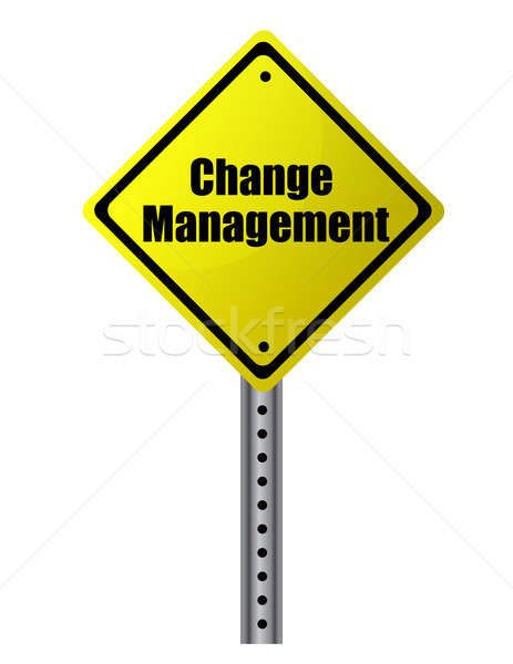 Change management posted on a yellow sign. Vector File available Stock photo © alexmillos