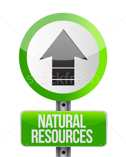 Illustration depicting a sign with a natural resources concept Stock photo © alexmillos