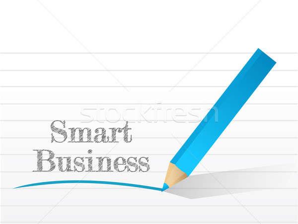 Foto stock: Inteligentes · negocios · escrito · bloc · de · notas · papel · ilustración