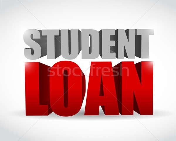 Stock fotó: Diák · kölcsön · felirat · illusztráció · terv · fehér