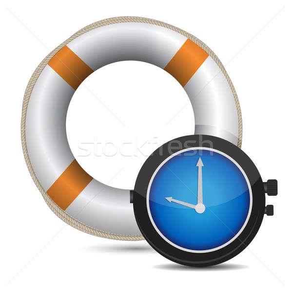 Rescue Time illustration design over a white background Stock photo © alexmillos