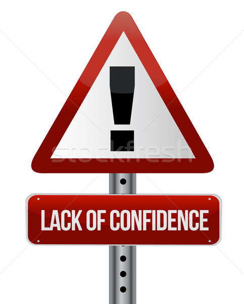 lack of confidence illustration design over white background Stock photo © alexmillos
