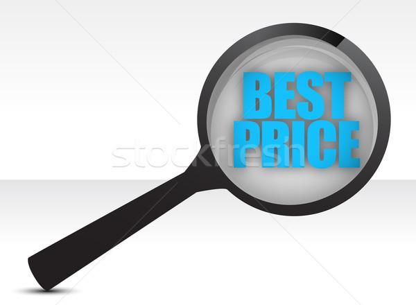 Best price, promotional sale illustration design over white Stock photo © alexmillos