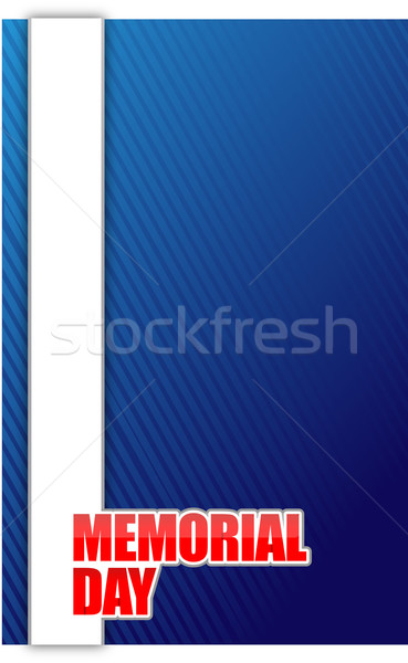 USA Memorial day sign illustration design graphic background Stock photo © alexmillos