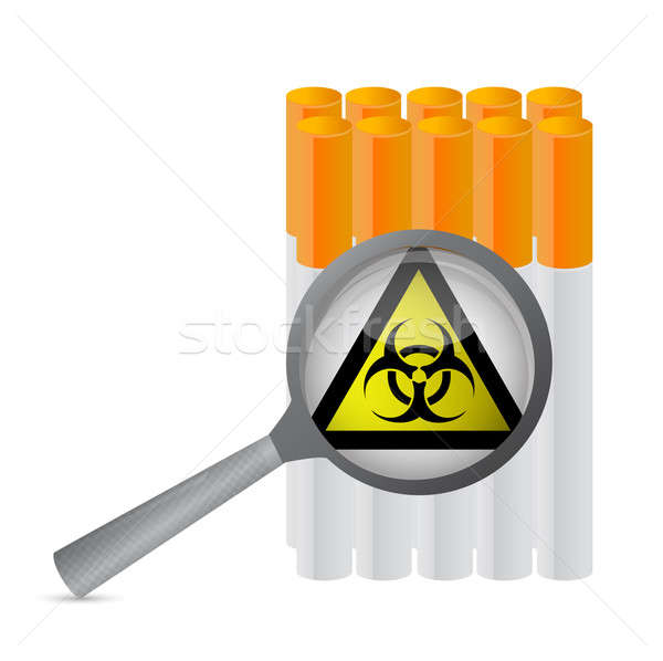 Warning sign and cigarette illustration  Stock photo © alexmillos
