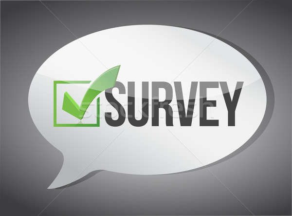 Survey message communication concept  Stock photo © alexmillos