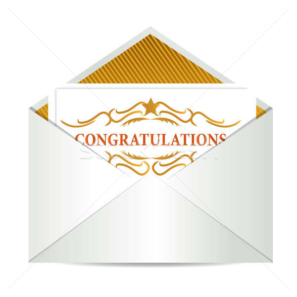 Congratulations an envelope Stock photo © alexmillos