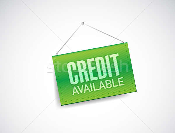 Door sign with a credit concept. illustration Stock photo © alexmillos