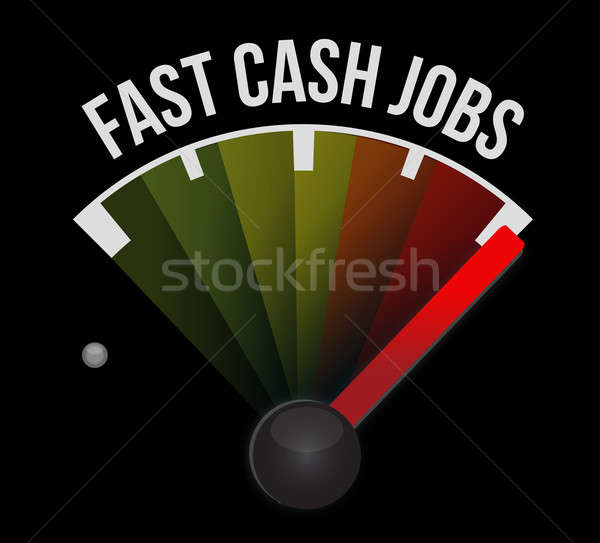 Fast cash jobs speedometer Stock photo © alexmillos