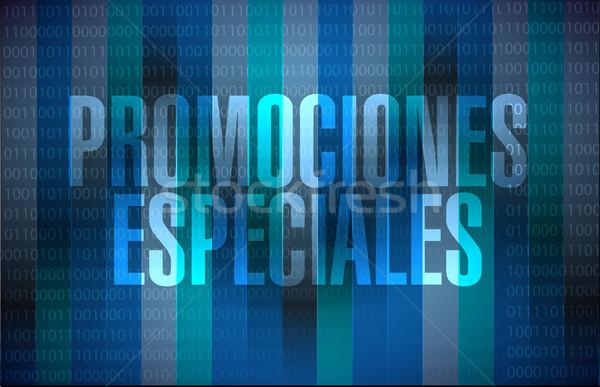 специальный испанский двоичный знак иллюстрация дизайна Сток-фото © alexmillos