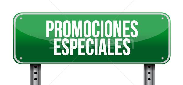 специальный испанский дорожный знак иллюстрация дизайна графических Сток-фото © alexmillos
