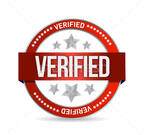 verified seal stamp illustration Stock photo © alexmillos