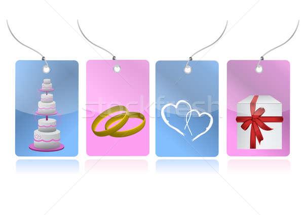 Amor capina conjunto ilustração papel Foto stock © alexmillos