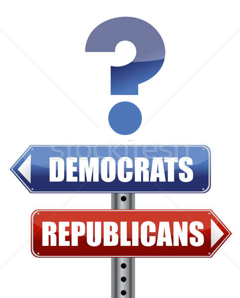 question Democrats and Republicans illustration design Stock photo © alexmillos