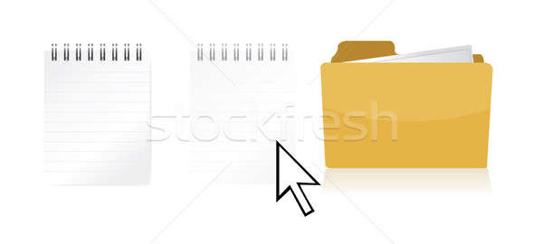 transferring files illustration design isolated over a white bac Stock photo © alexmillos
