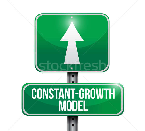 constant growth model road sign illustrations design over white Stock photo © alexmillos