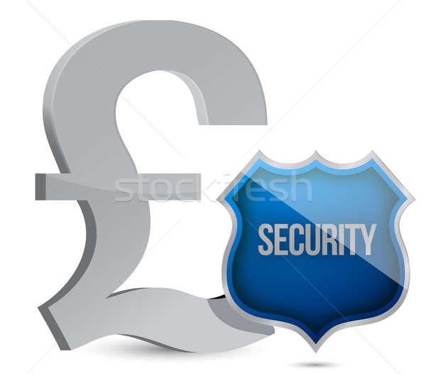 Stok fotoğraf: Pound · korumalı · örnek · dizayn · beyaz · para