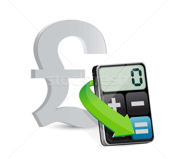 Libra moderna calculadora ilustración diseno blanco Foto stock © alexmillos