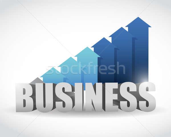 Business arrow blue graph. illustration design Stock photo © alexmillos