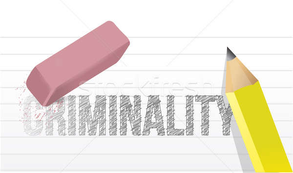 Erase criminality concept illustration design Stock photo © alexmillos