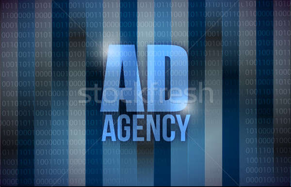 Ad agency binary background design Stock photo © alexmillos