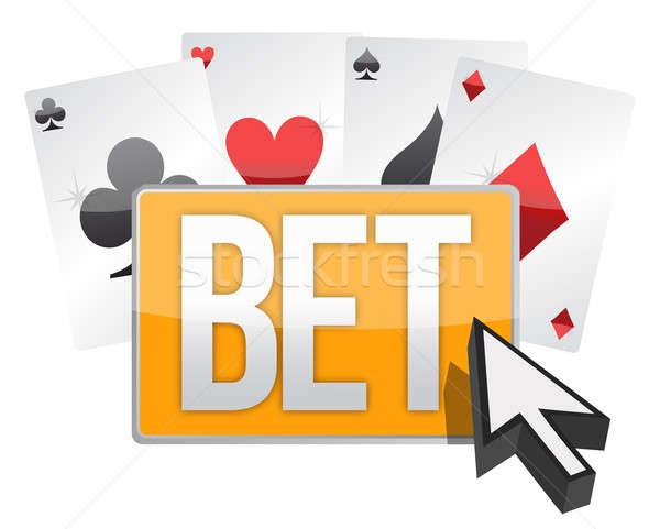 Bet button and cursor  Stock photo © alexmillos