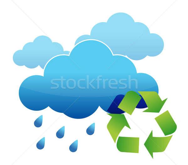 Recycle rain water Stock photo © alexmillos