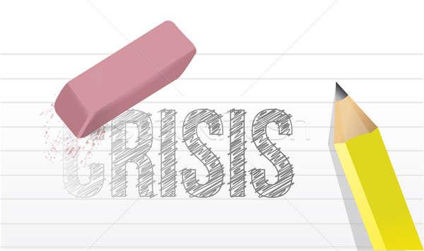 Erase crisis concept illustration design  Stock photo © alexmillos