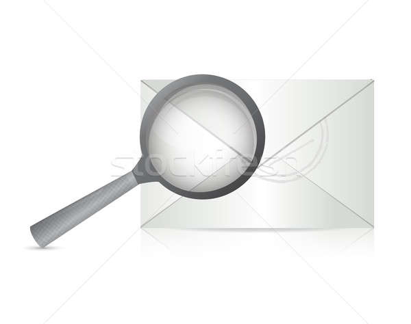 Searching for an email illustration design  Stock photo © alexmillos