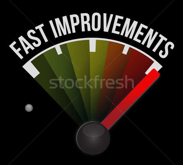 Photo stock: Rapide · amélioration · indicateur · de · vitesse · voiture · signe · vitesse