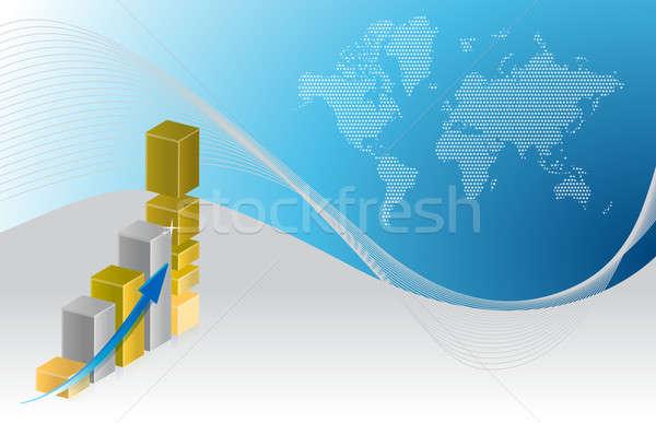 üzleti grafikon illusztráció terv absztrakt háttér pénzügy Stock fotó © alexmillos
