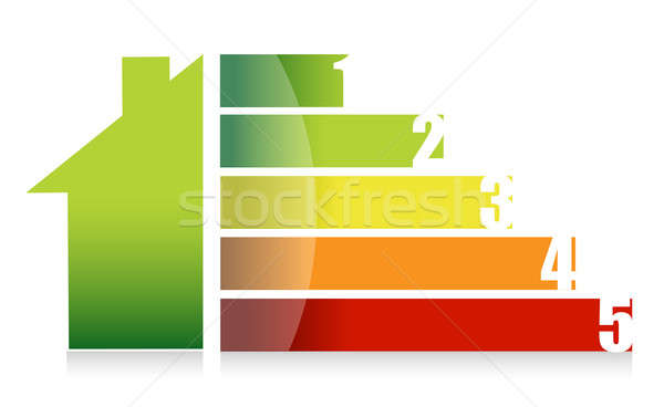 House market and colorful graph illustration design Stock photo © alexmillos