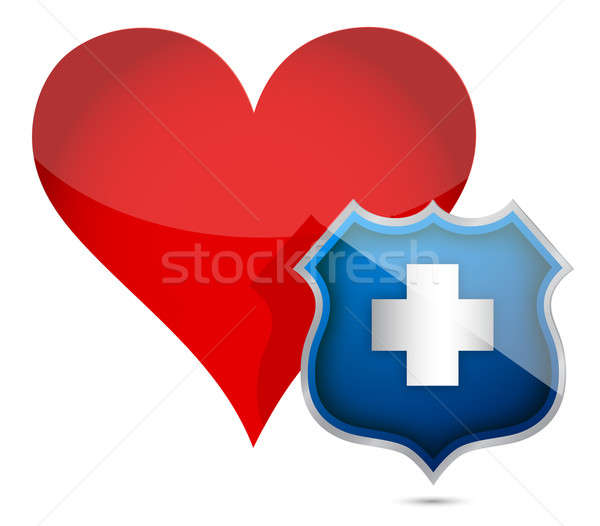 Heart health protected illustration design   Stock photo © alexmillos