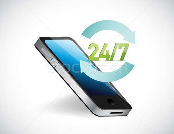 twenty four seven all day service help phone Stock photo © alexmillos
